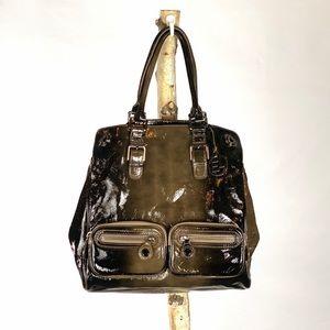 Elliott Lucca Black Patent Leather Bag